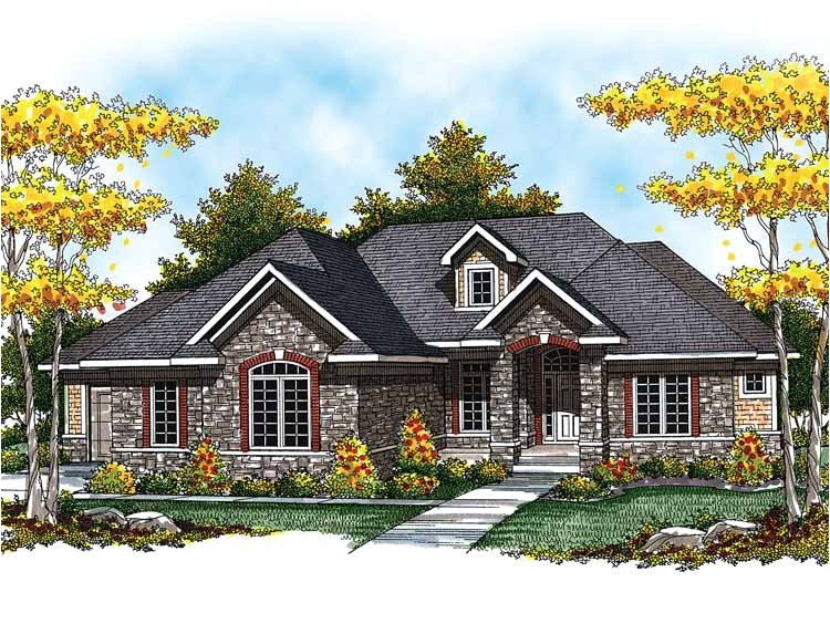 ranch house plan with 2764 square feet and 3 bedrooms from dream home source house plan code dhsw52267