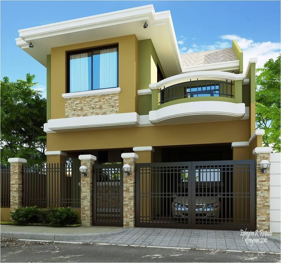 2 storey modern house designs in