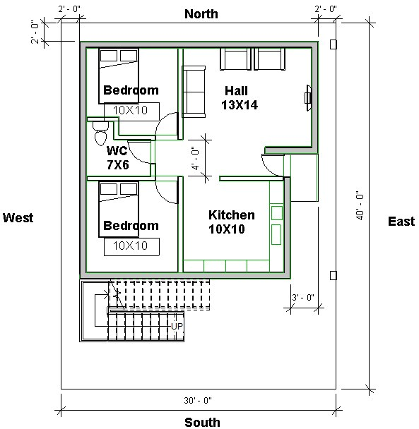 east facing vastu home plan