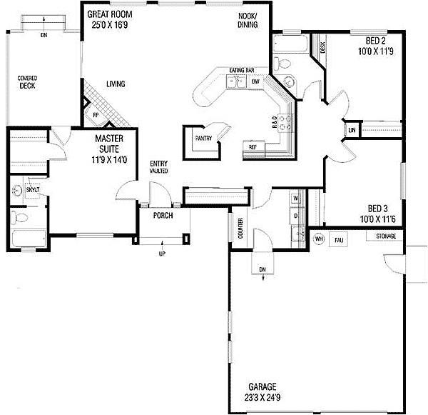 empty nester house plans