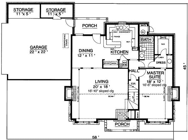tudor house plan 55087br