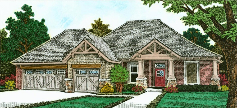 exclusive one story european house plan 48530fm