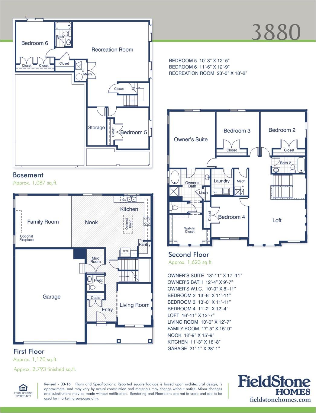 fieldstone homes utah floor plans