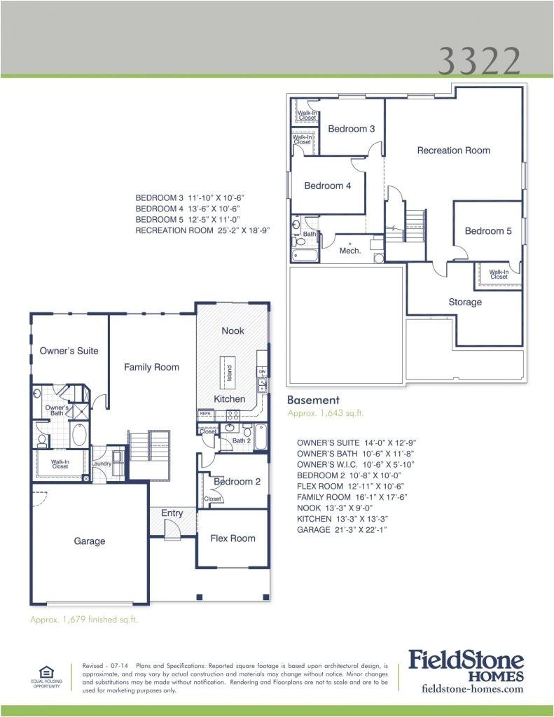 fieldstone homes floor plans