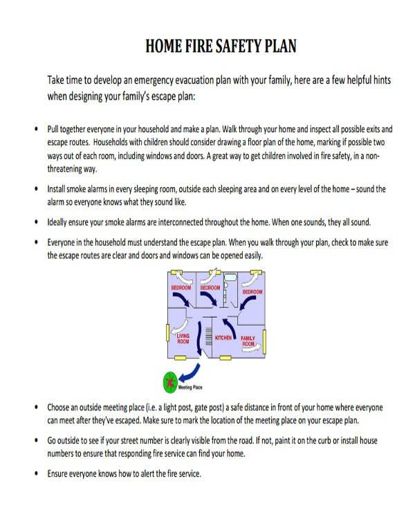 fire safety plan for home. Black Bedroom Furniture Sets. Home Design Ideas