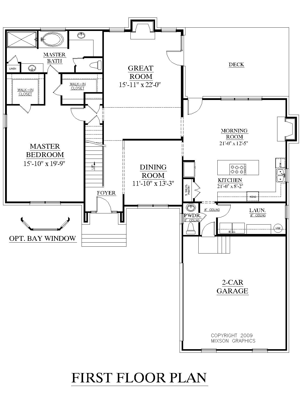 house plans 1st floor master bedroom