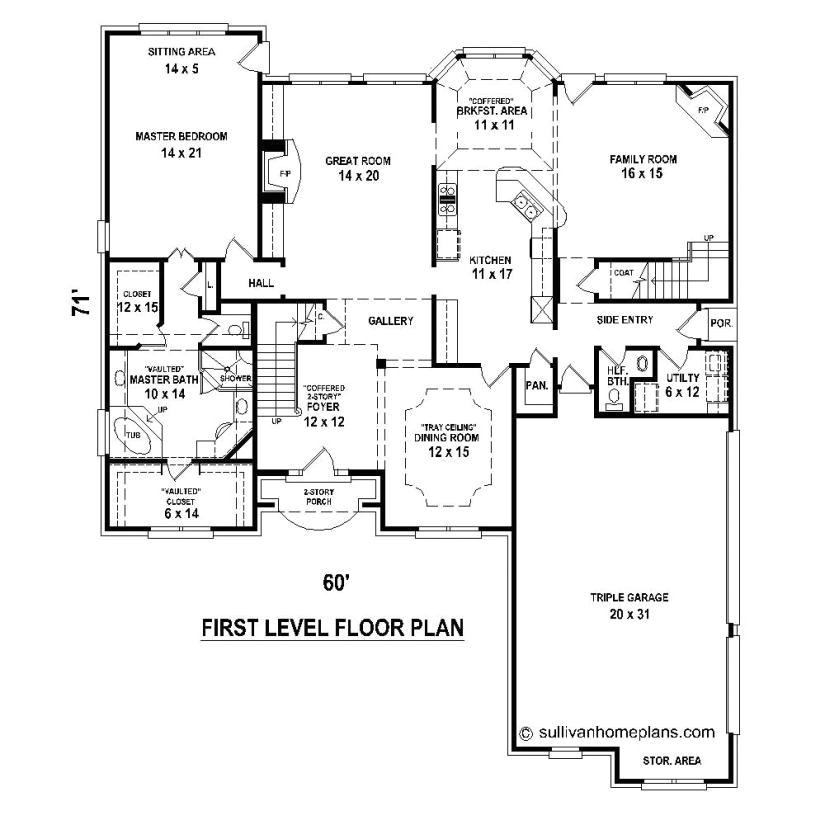 house plans v shaped