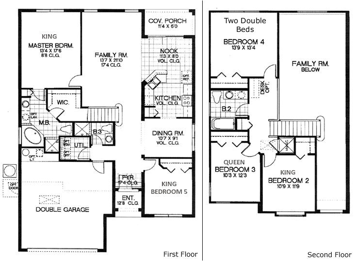 5 bedroom house floor plans