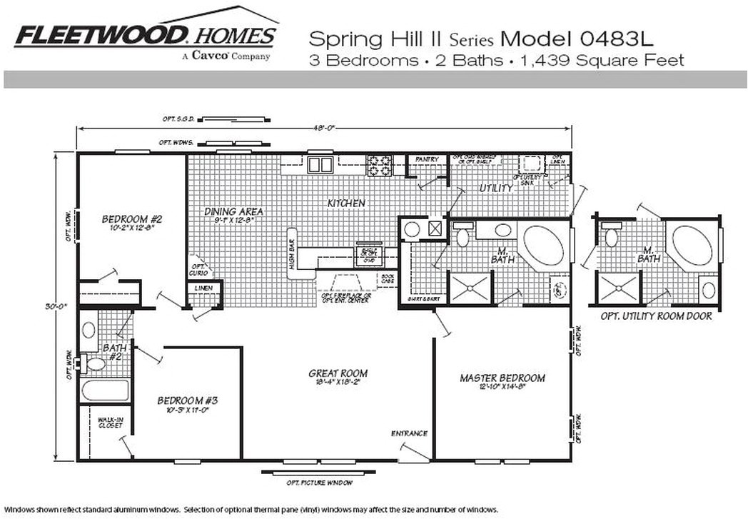 available fleetwood manufactured home and mobile floor plans 450170