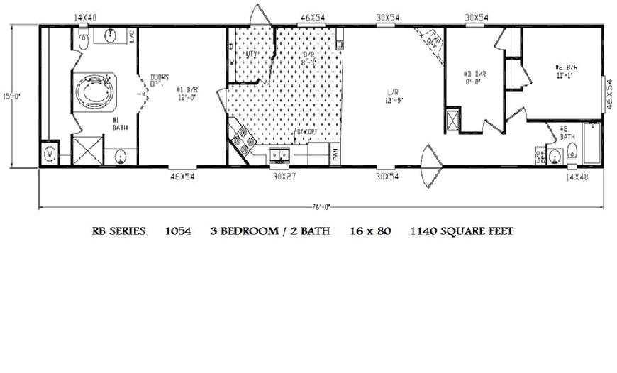1997 fleetwood mobile home floor plan