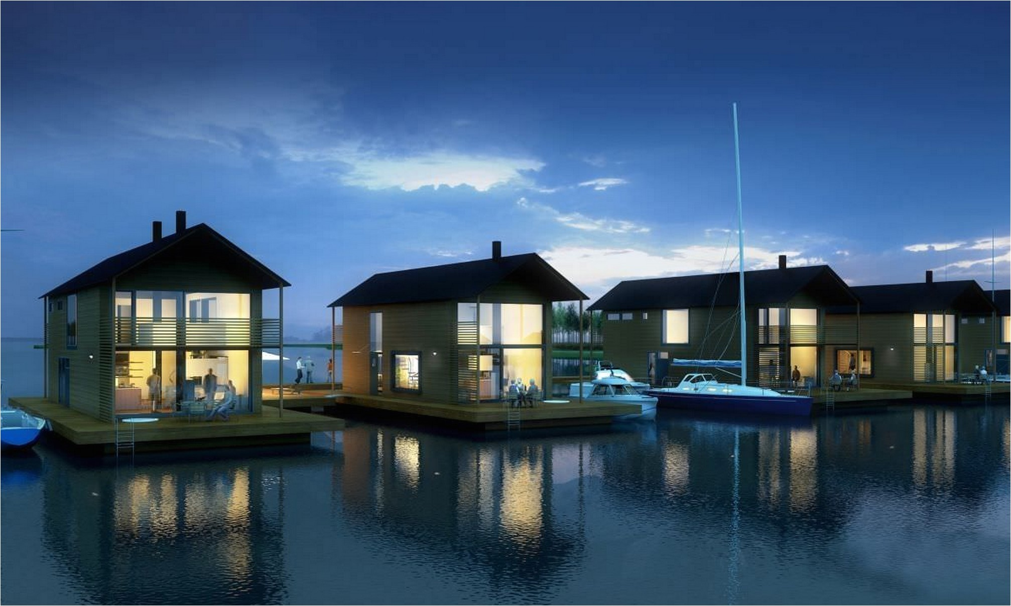 14 inspiring floating lake house to decide best floating lake house plans