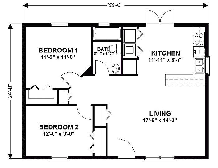 Floor Plans for 24×36 House 36×24 House Plans Home Deco Plans