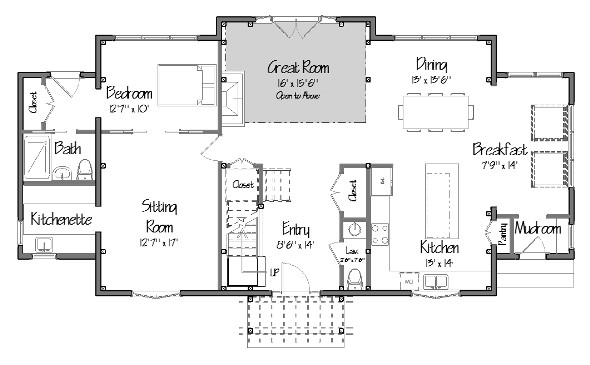a post and beam dutch colonial