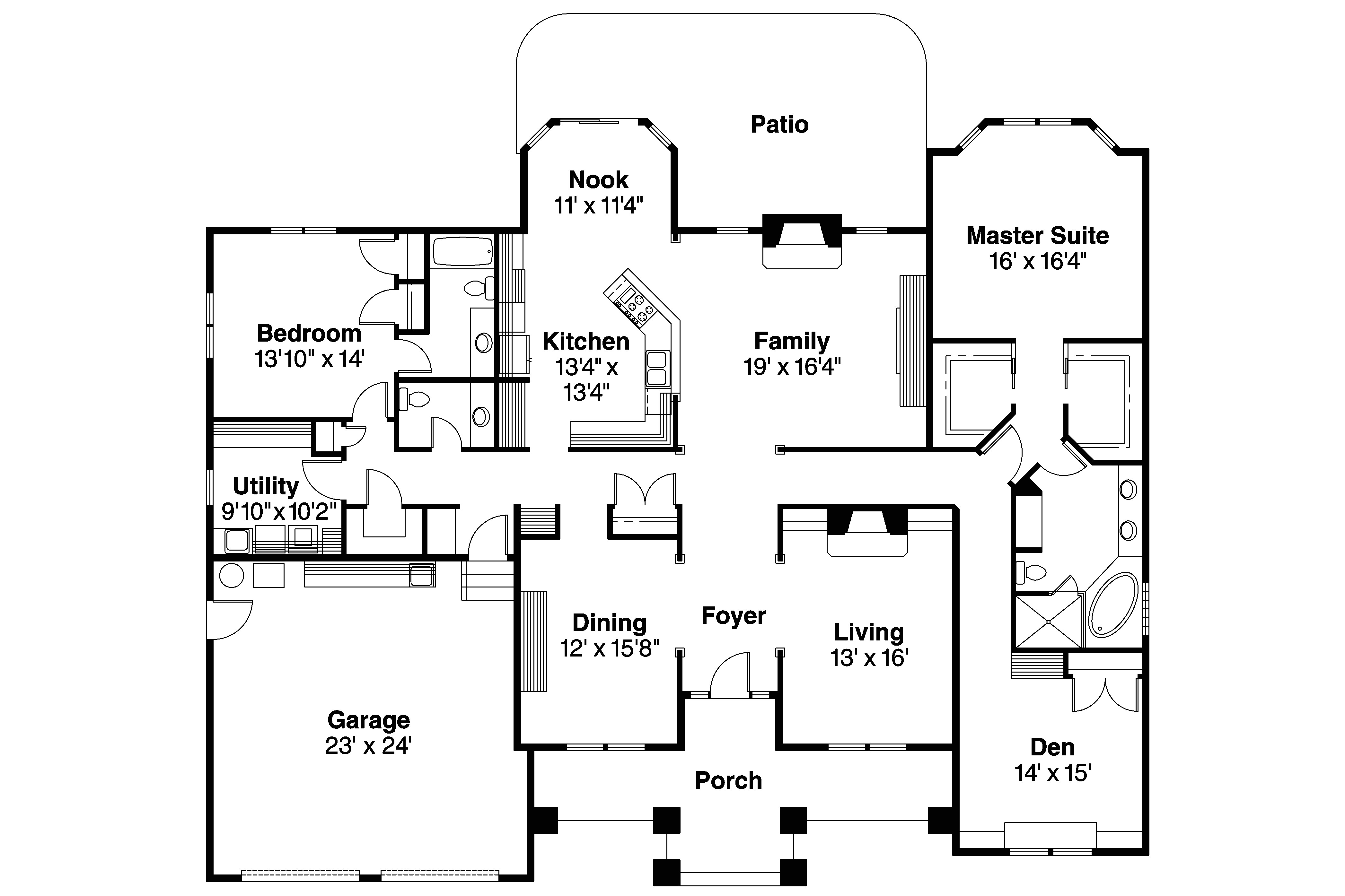 Floor Plans for Contemporary Homes Contemporary House Plans Stansbury 30 500 associated
