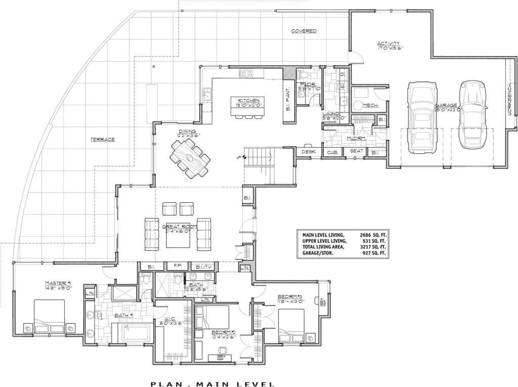 luxury modern house floor plans