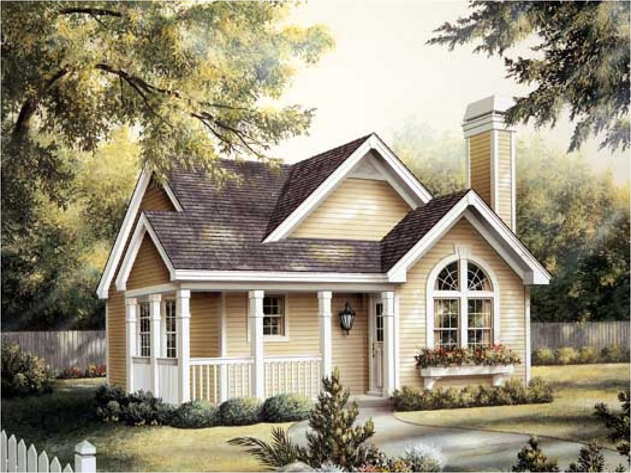 one story small cottage house plans