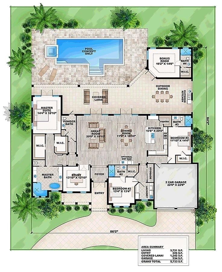 florida home designs floor plans