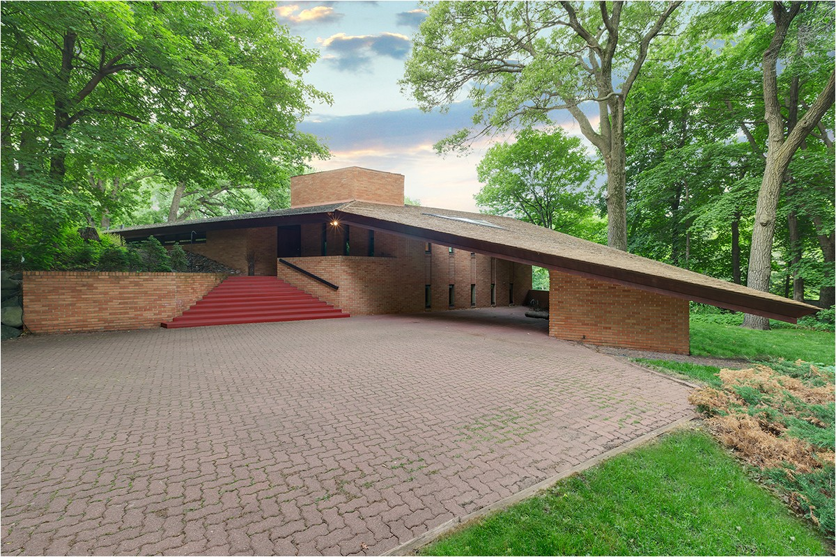 frank lloyd wrightdesigned house listed in st louis park minn o