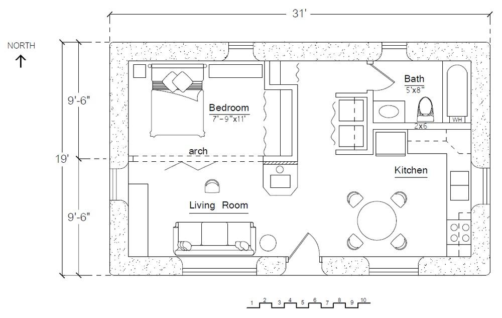 free economizer earthbag house plan