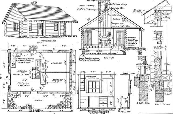 11 free log home plans
