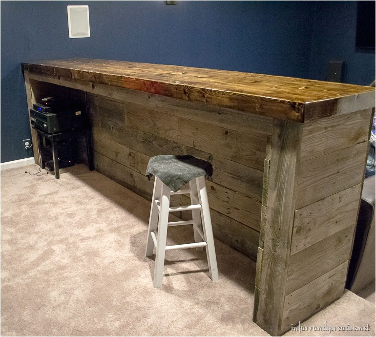 Free Plans to Build A Home Bar Man Cave Wood Pallet Bar Free Diy Plans