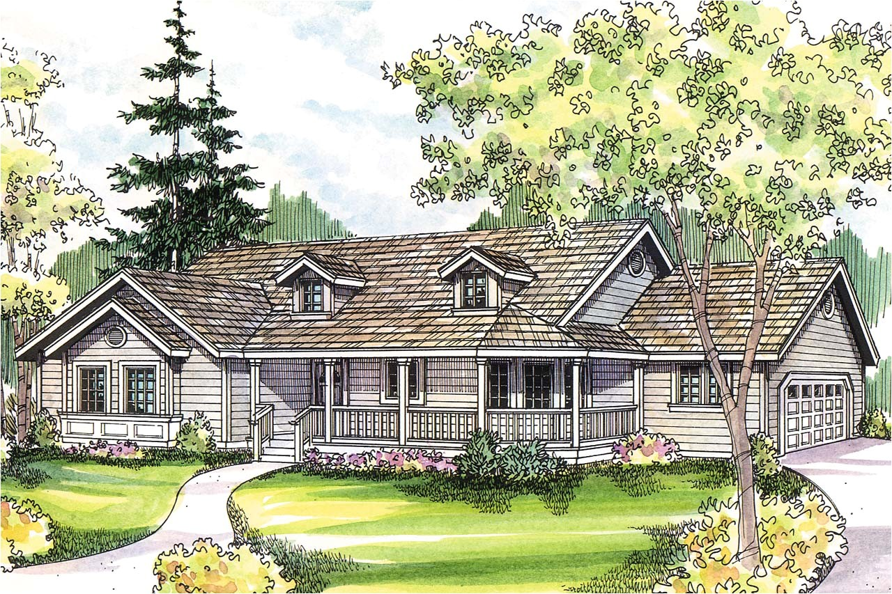 french country home plans with front porch
