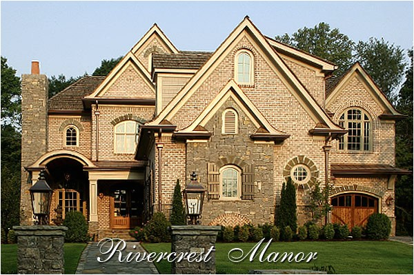 traditional french country house plan river crest manor