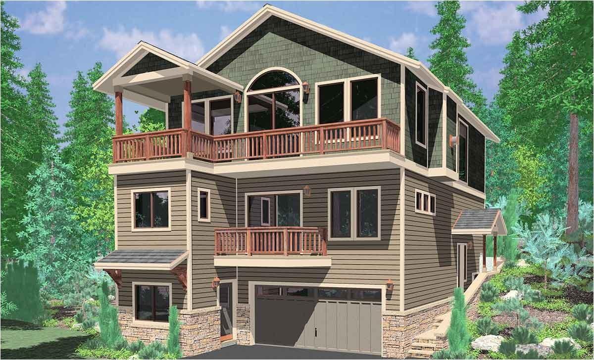3 story craftsman house plans unique front view house plans rear view and panoramic view house plans