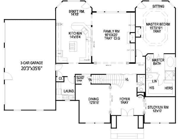 exquisite georgian house plan 13455by