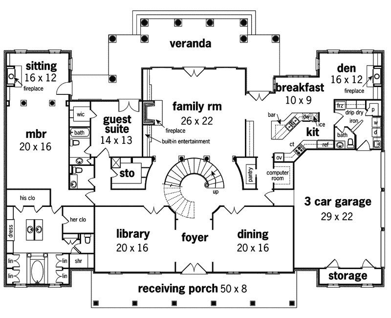 Georgian Home Floor Plans Le Claire Georgian Home Plan 020s 0002 House Plans and More