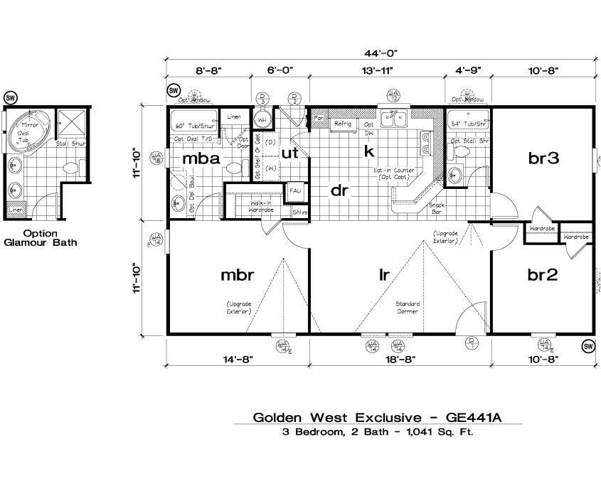 golden west exclusive floorplans