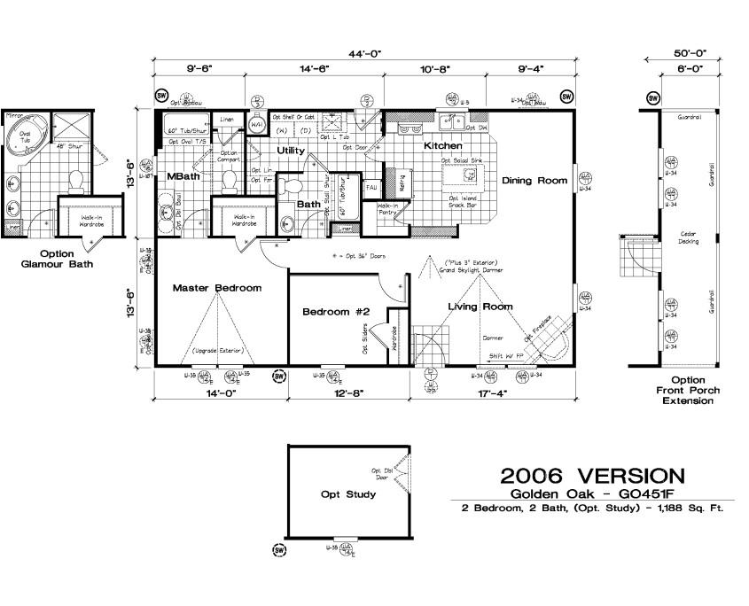 golden west golden oak floor plans