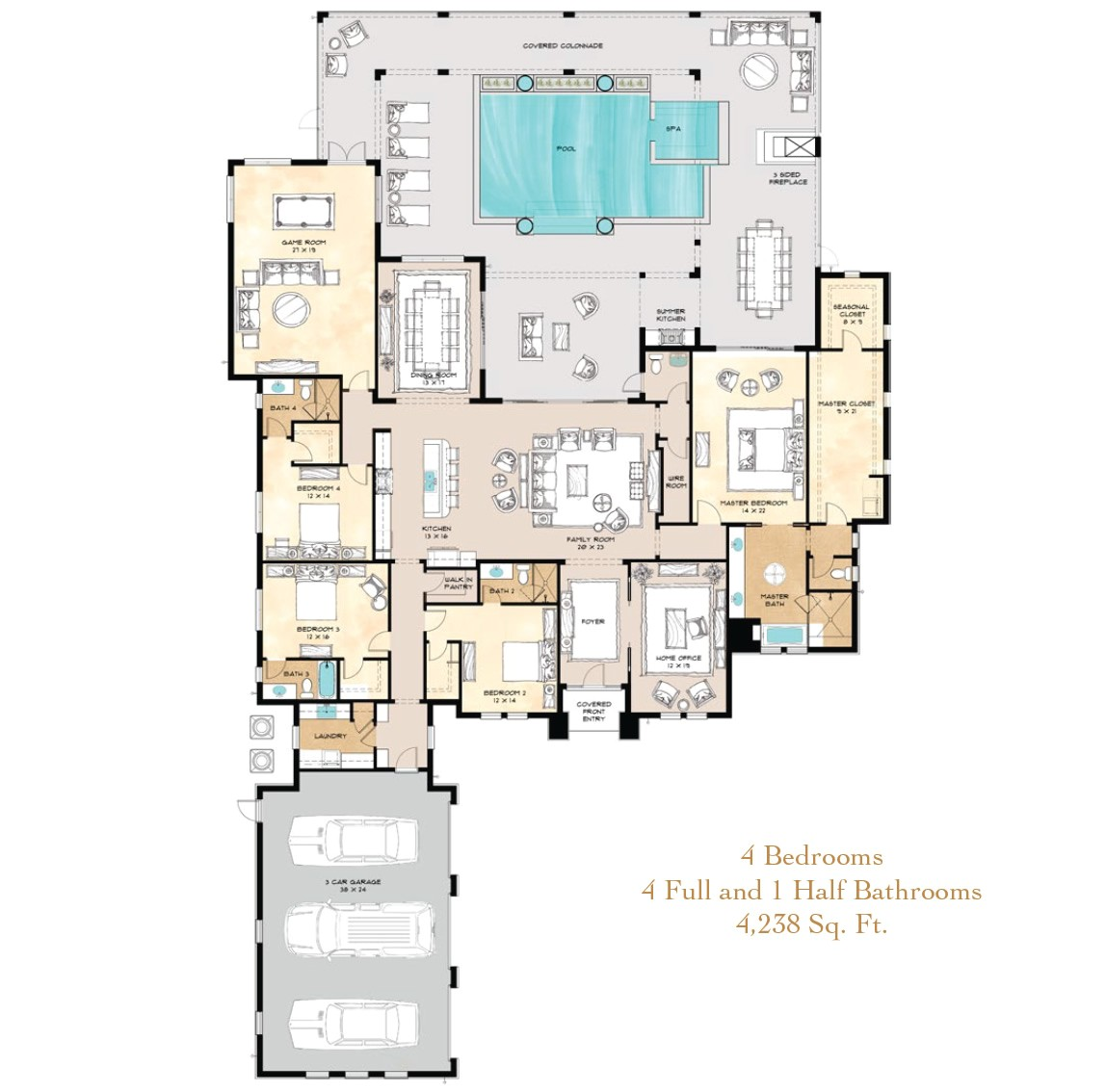 golf course clubhouse floor plans