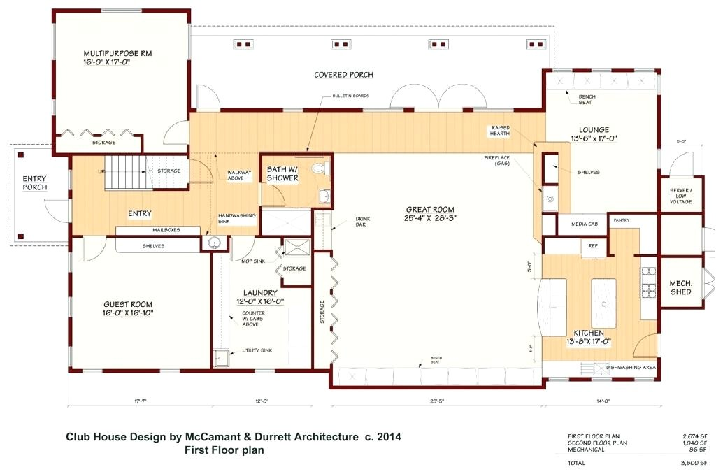 golf course clubhouse plans