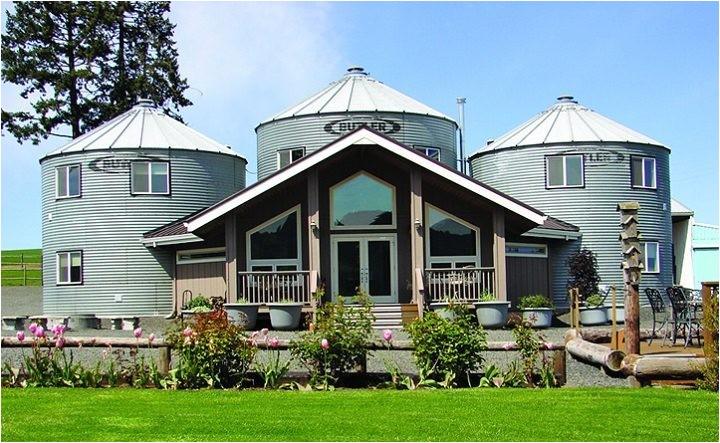 how to build grain bin house silo home