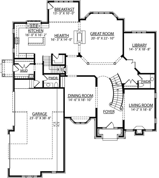 2 story living room floor plans