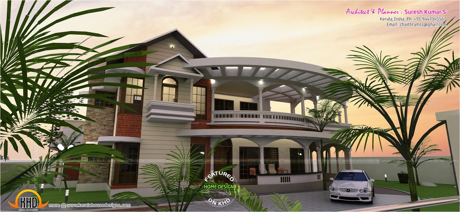 flat roof contemporary house in 1853 sq