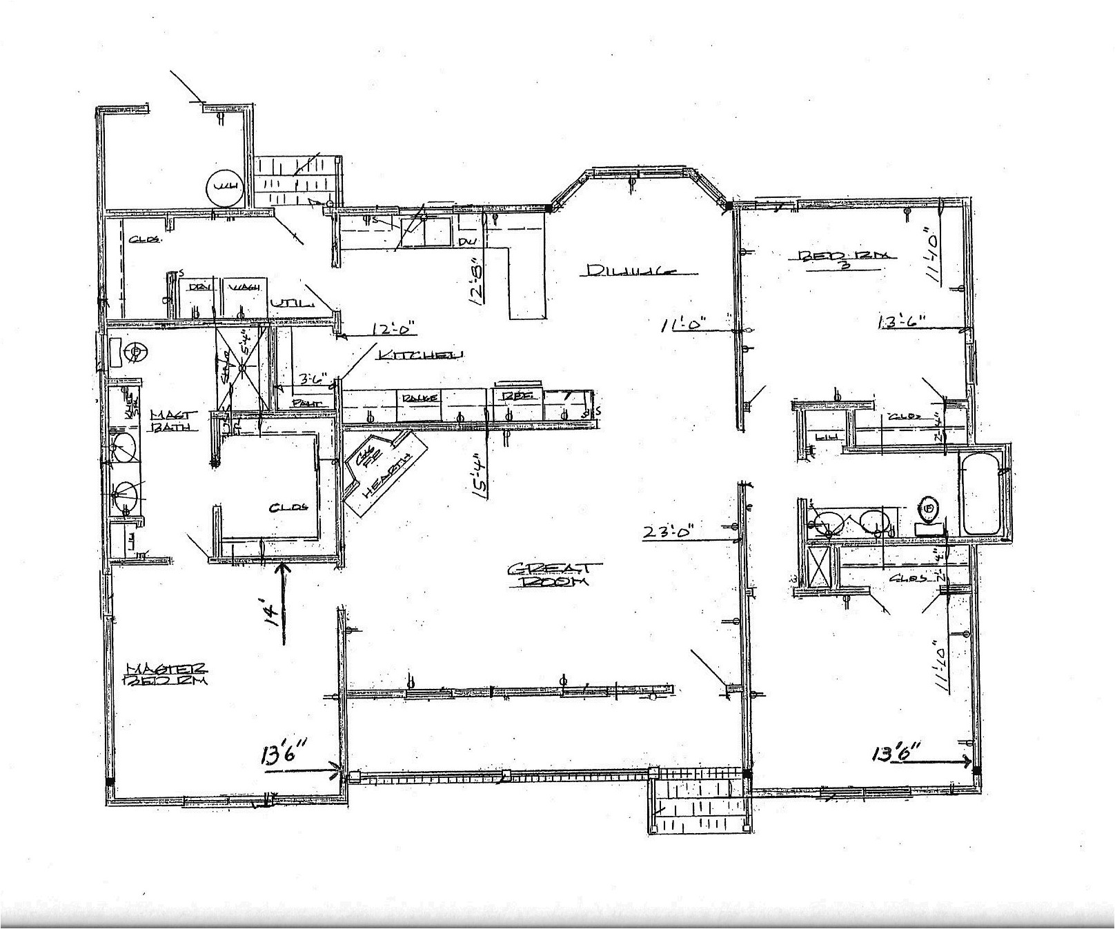 great house plans for large families