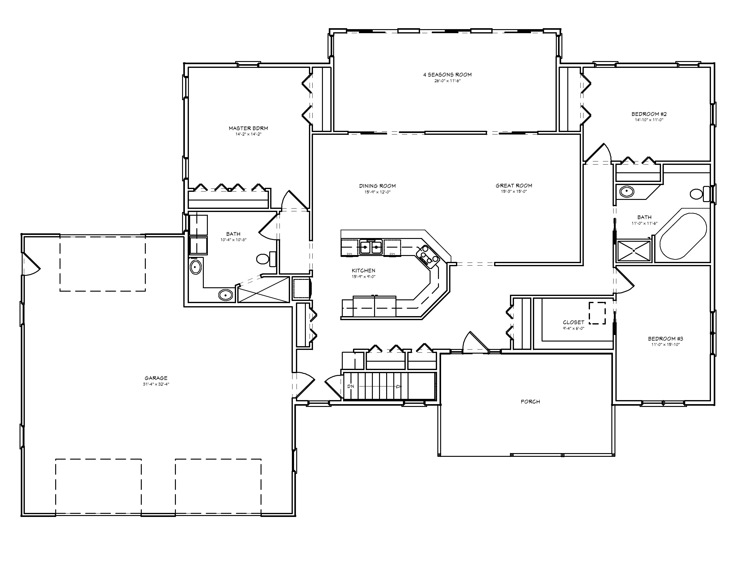great room house plan d67 2322