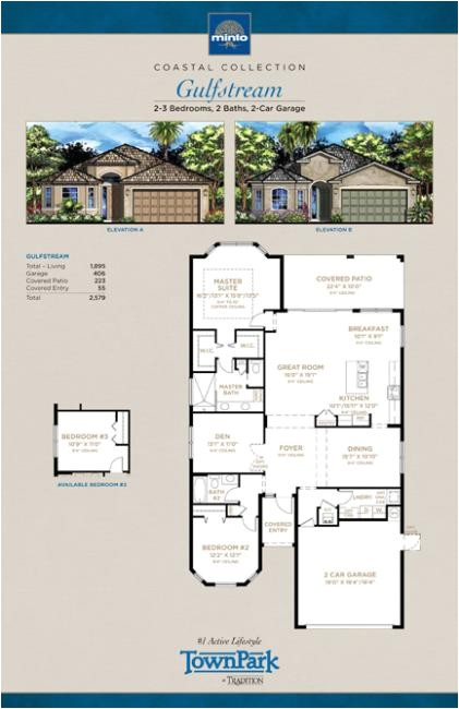 Gulfstream Homes Floor Plans townpark Gulfstream Model Home Port St Lucie Florida