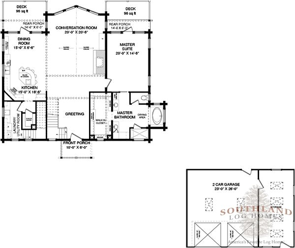 hancock log home plan
