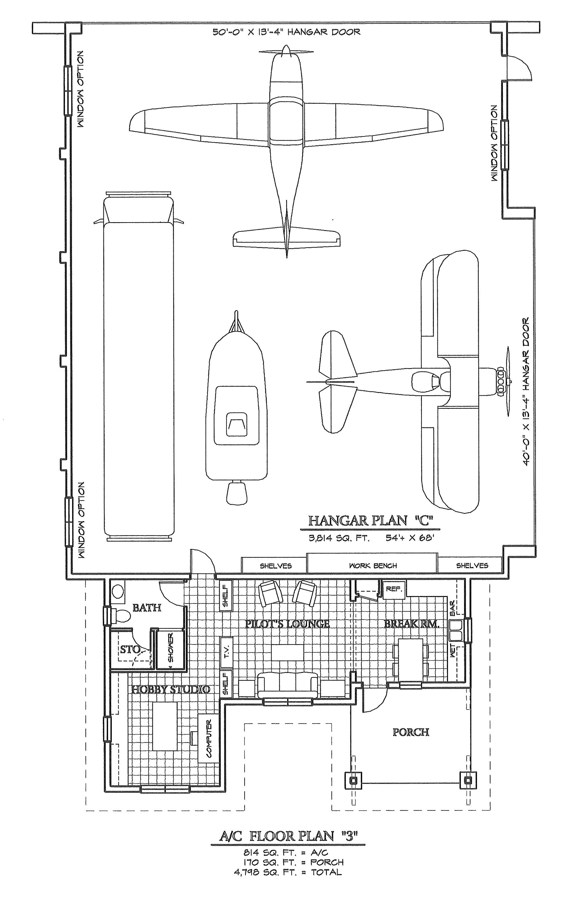 Hangar Homes Floor Plans Grass Roots Airpark