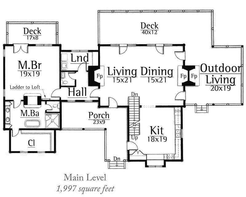 carolina log home floor plan