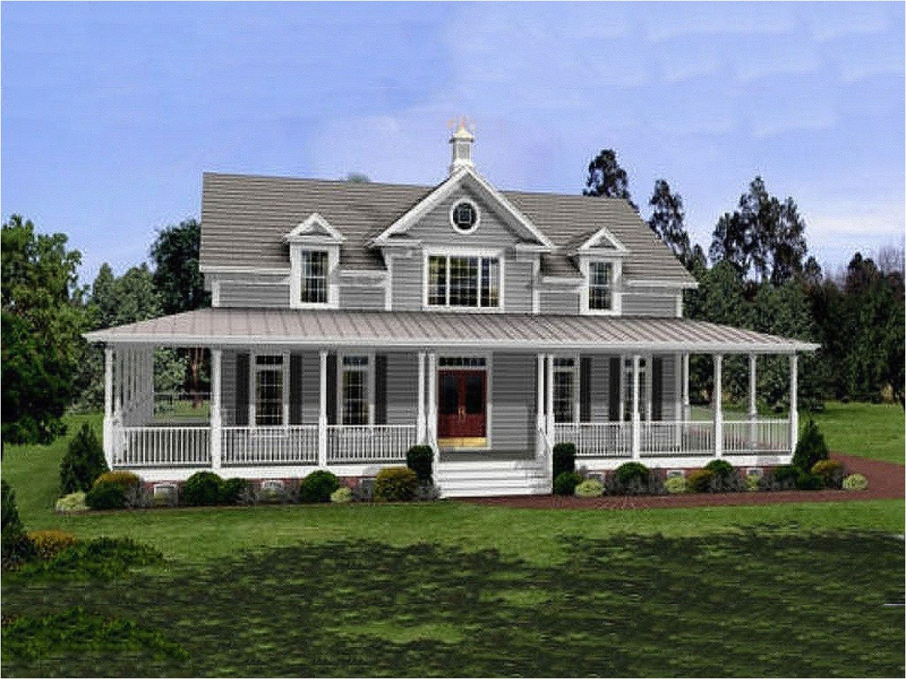 Hill Country House Plans with Wrap Around Porch Desk and Bookcase Hill Country Style House Plans Country