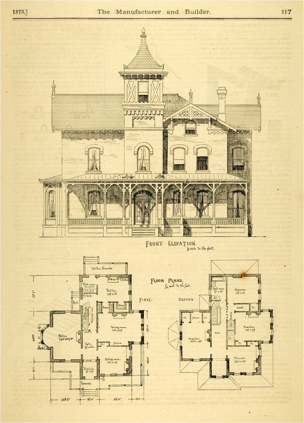 Historic Homes Floor Plans 1873 Print House Home ... on golf course floor plans, home floor plans, historic cottage floor plans, historic farmhouse floor plans, historic cape cod floor plans, historic house floor plans, historic bungalow floor plans,