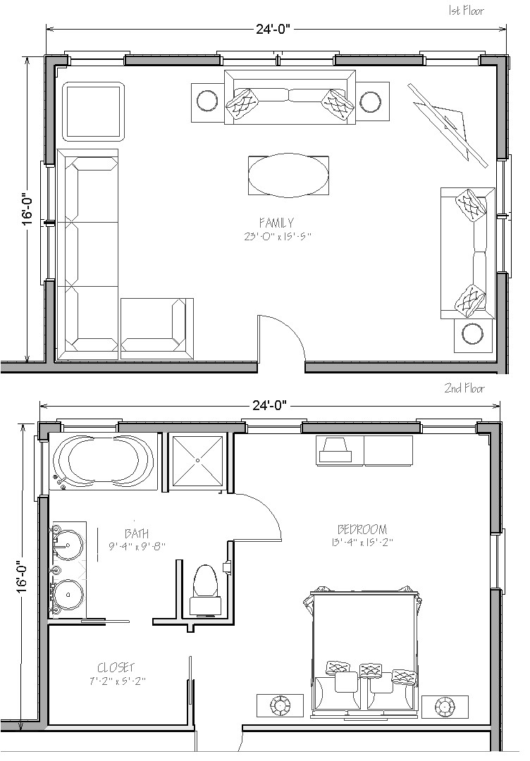 ft two story home extension costs
