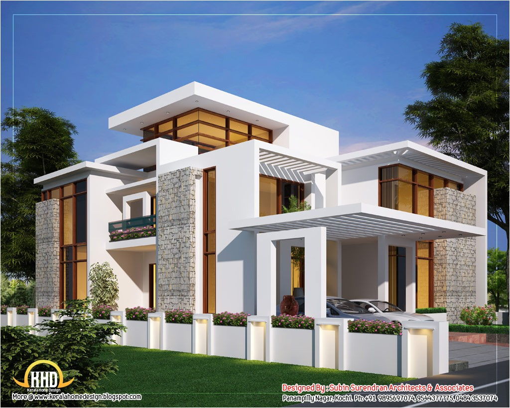 contemporary style house plans kerala