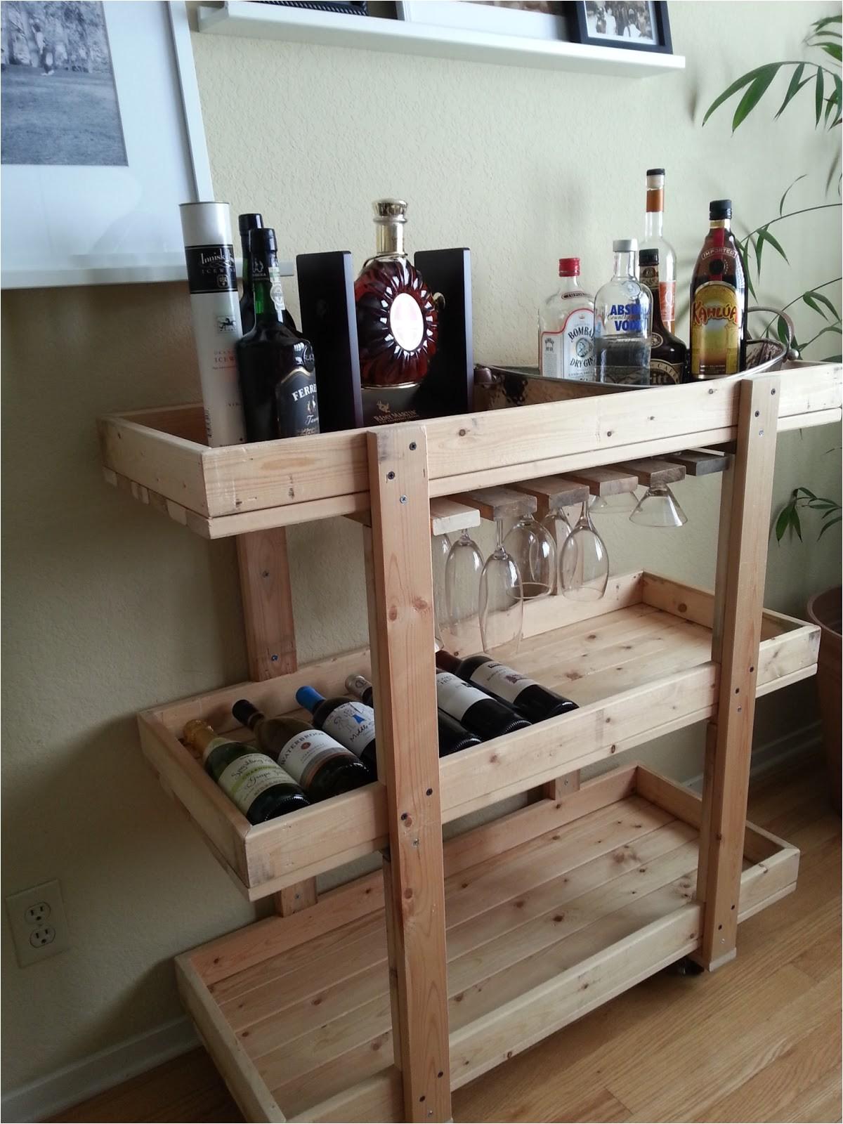 diy bar cart