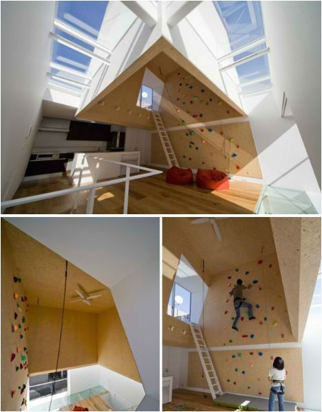 domestic daredevils 12 insanely cool home climbing walls