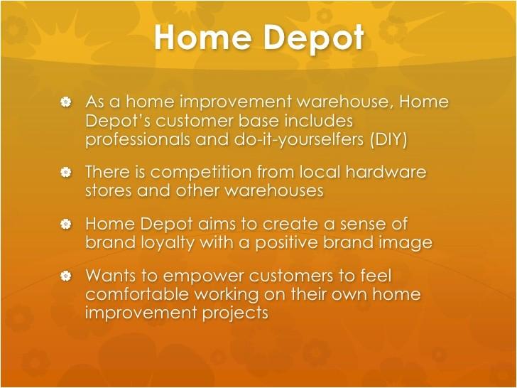 home depot marketing strategy